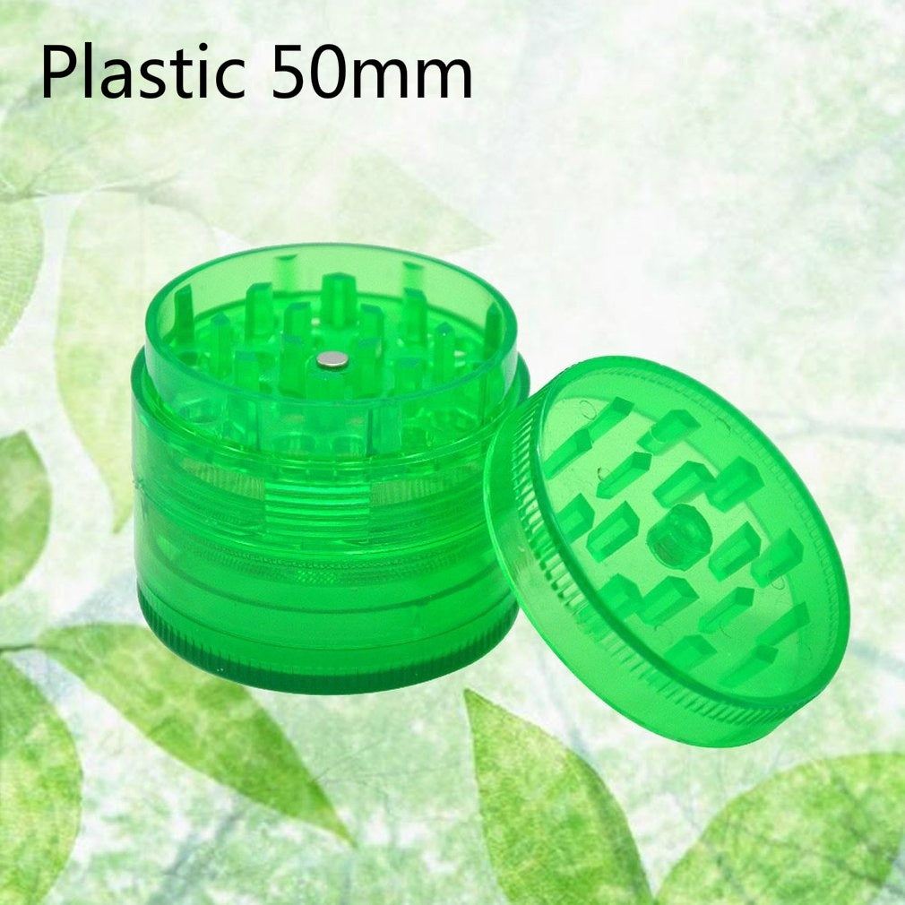 40/50mm Metal/Plastic 4 Layers Tobacco Grinder Herb Grinder Smoke Bacco Crusher Medicinal Hand Crusher
