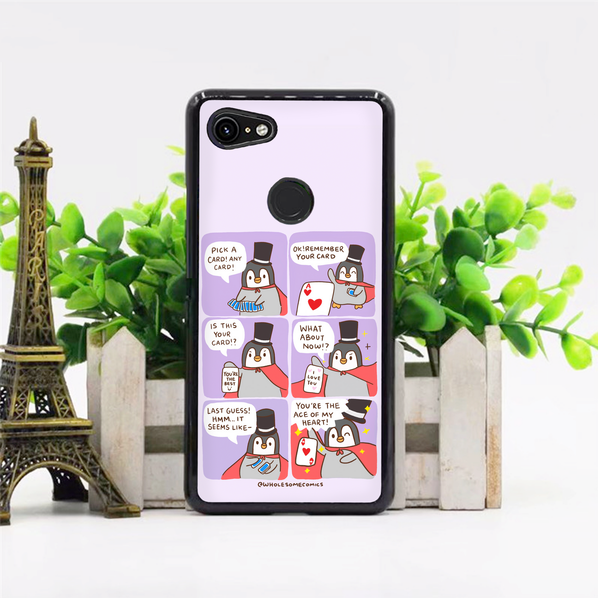 Penguin Magician Purple Phone Case
