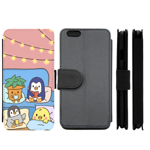 Pink Comfy and Cozy Penguin Wallet Phone Case