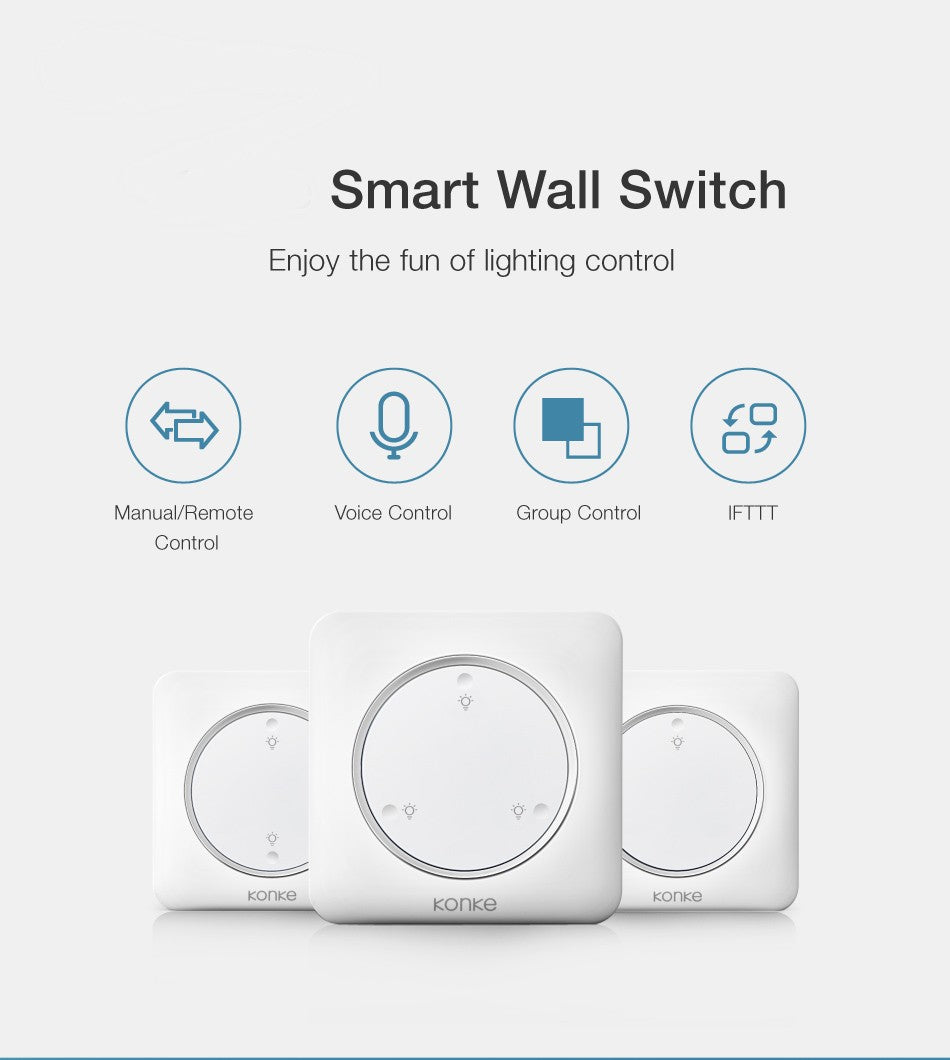 Smart Light 3 Way Gang Wall Switch - E' Panta Market