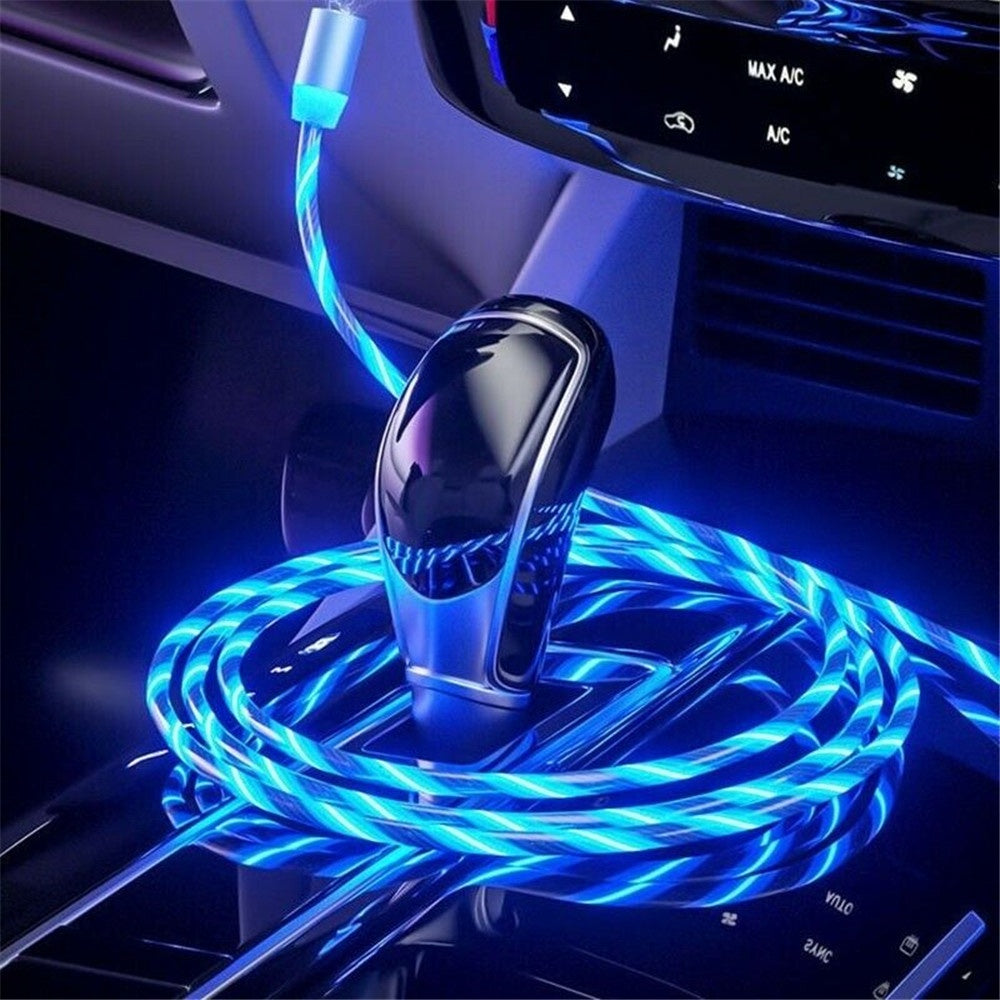 3 in 1 LED Glow Flowing Magnetic USB type C charger - E' Panta Market