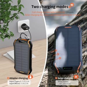 Waterproof Solar High Powered Quick Charger Type C-Power Bank - E' Panta Market