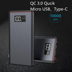USB Type-C LED Display Screen Power Bank - E' Panta Market