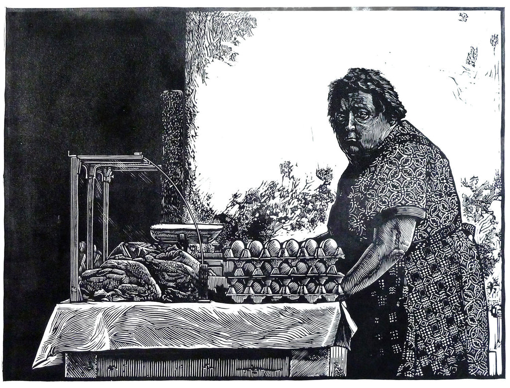 The Egg lady of Augsburg
