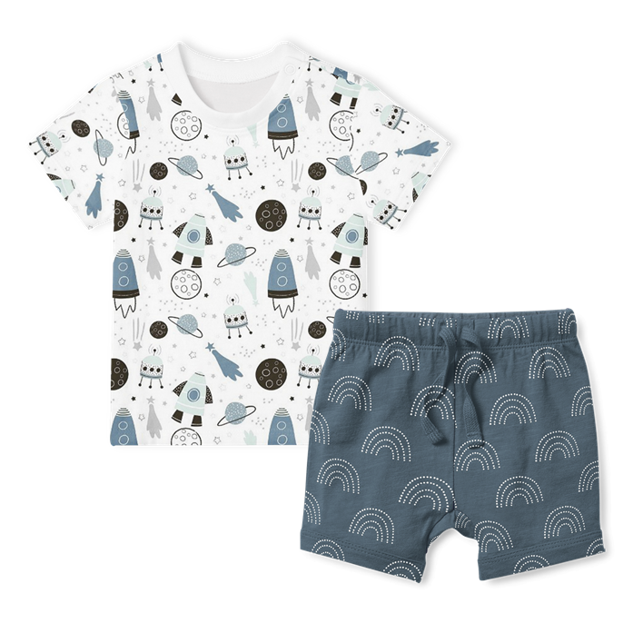 2-Piece T-Shirt/Shorts Set - Galaxy