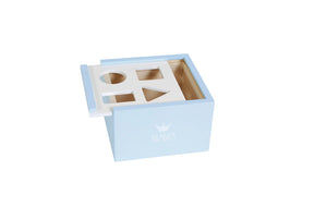 Wooden Block Box Blue