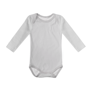 Baby Basics - Long Sleeve Onesie - Grey