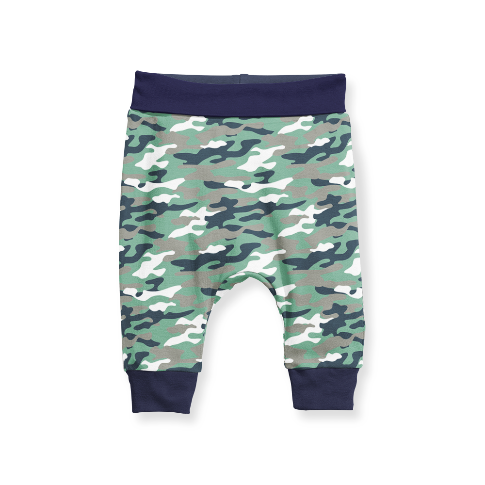 Jogger Pants - Camo - Navy Trim