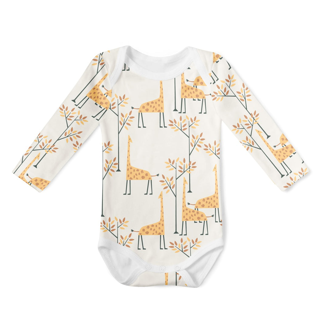 SALE - Long Sleeve Onesie - Giraffes