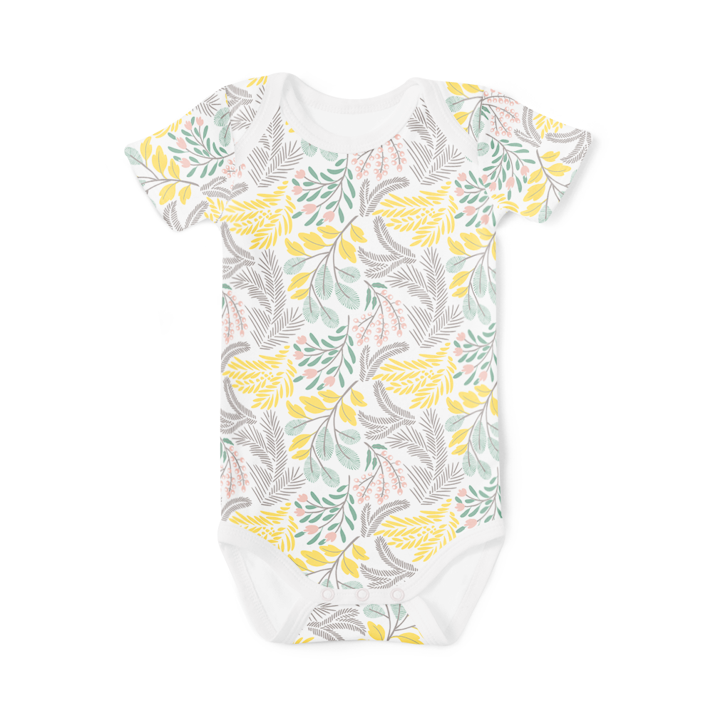 Short Sleeve Onesie - Summer Floral