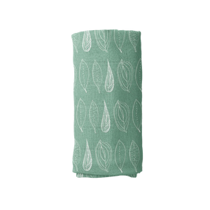 Muslin Swaddle Blanket - Leaf Sage