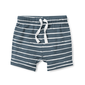 Boy's Shorts - Midnight Stripe