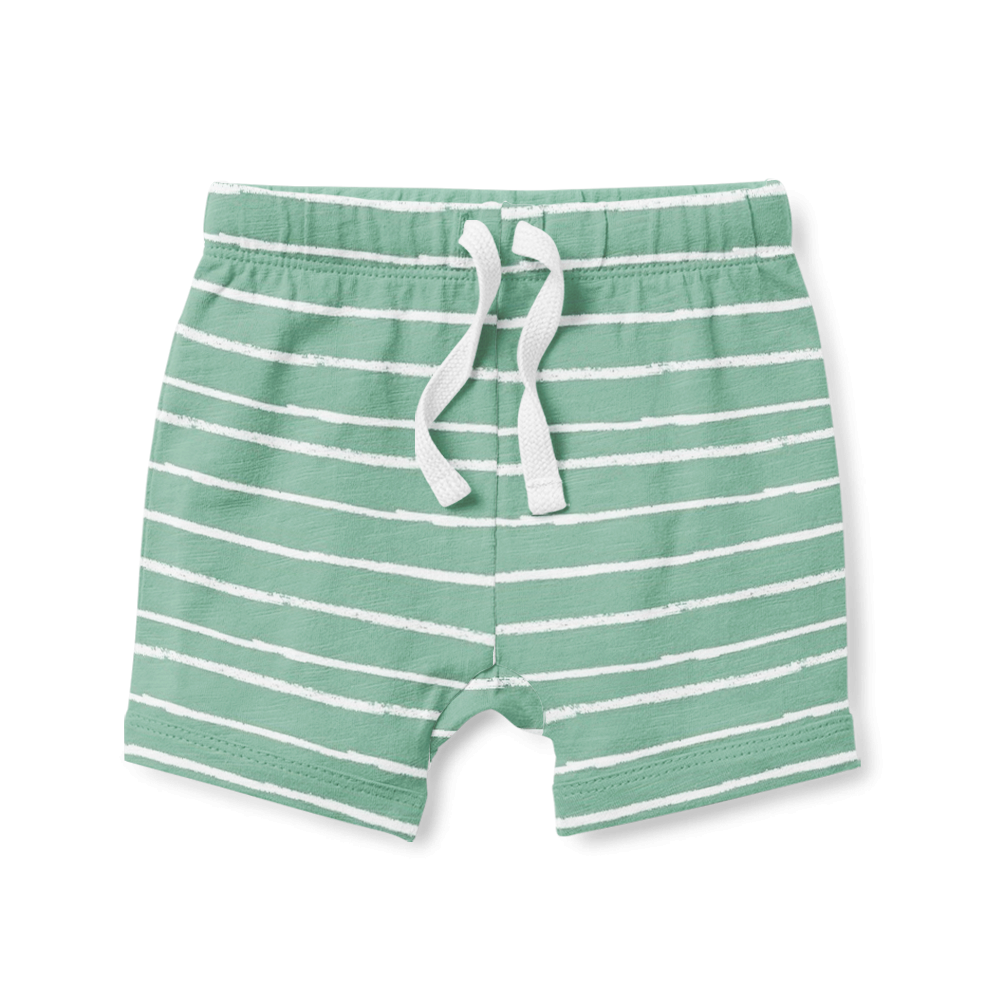 Shorts - Sage Stripe