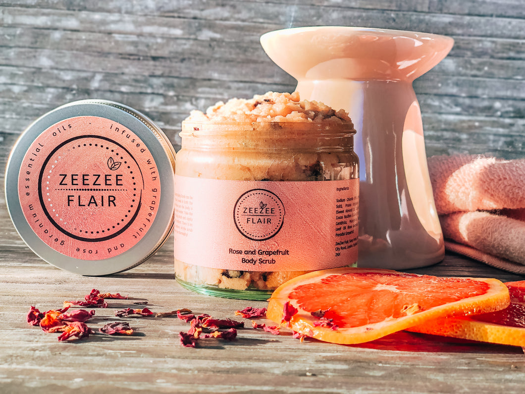 Rose and Grapefruit Body Scrub