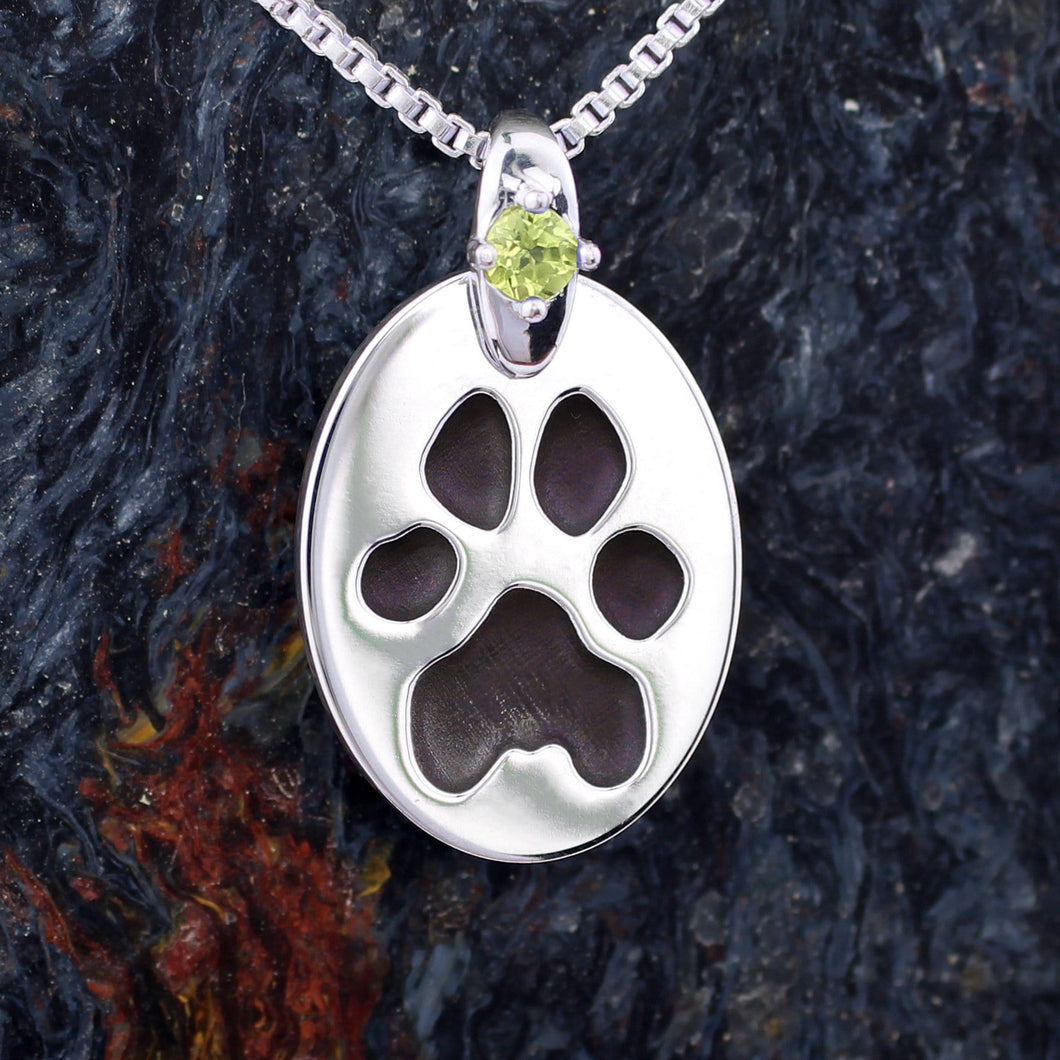 cat paw necklace