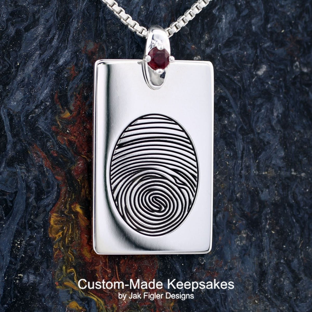 Custom Fingerprint Dog Tag