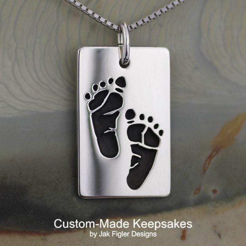 Footprint Dog Tag