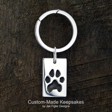 Load image into Gallery viewer, Pawprint Dog Tag Keychain