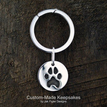 Load image into Gallery viewer, Pawprint Round Keychain