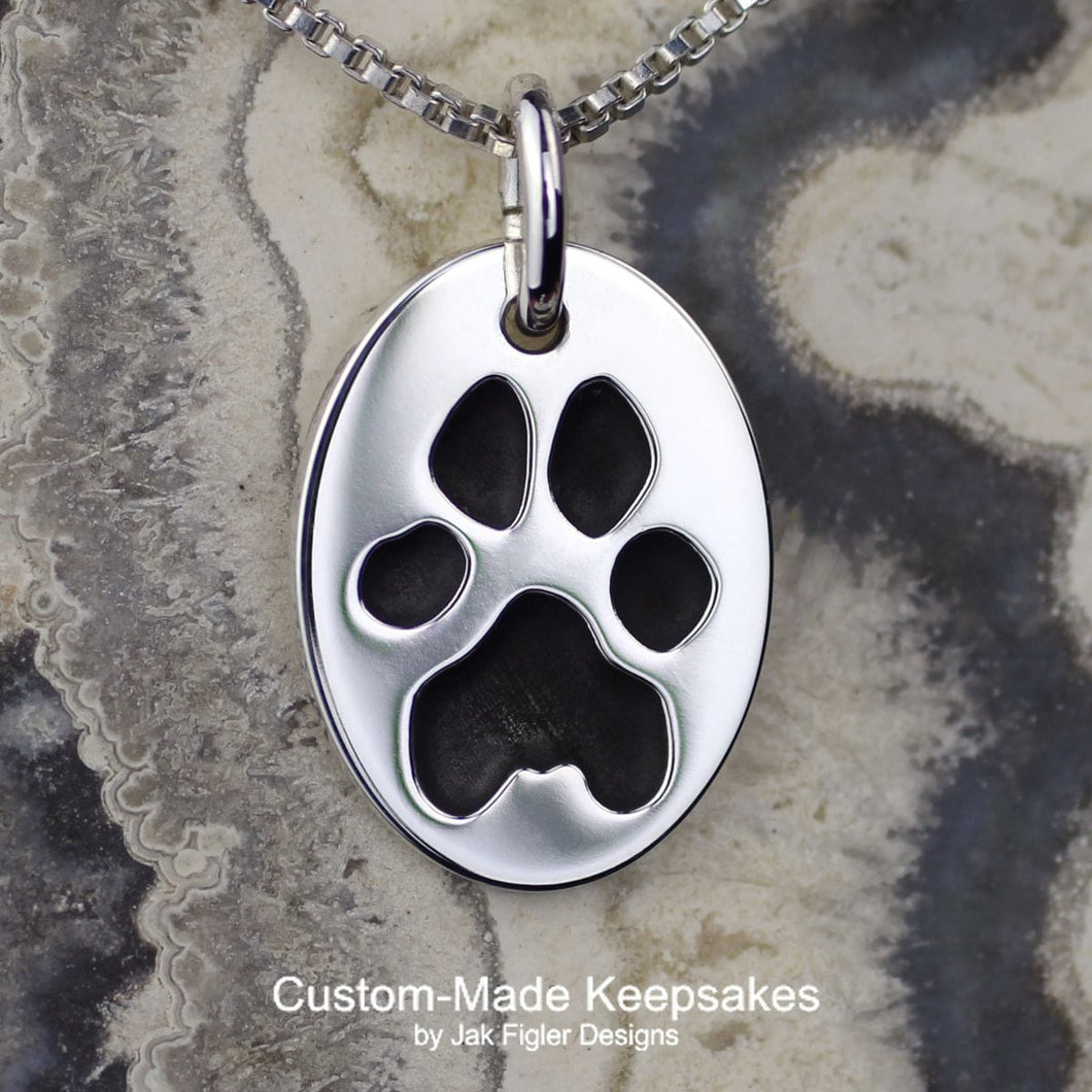 Oval Pawprint Necklace