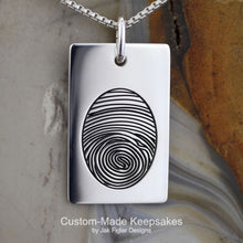 Load image into Gallery viewer, Thumbprint Necklace