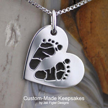 Load image into Gallery viewer, custom footprint necklace