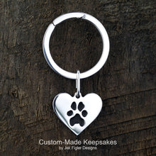 Load image into Gallery viewer, Heart Pawprint Keychain