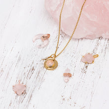 Load image into Gallery viewer, Rose quartz Shield Pendant