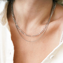 Load image into Gallery viewer, Narrow Curb Chain Necklace 17.7'', 450mm