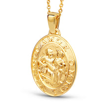 Load image into Gallery viewer, Amor Medallion Oval Coin Pendant