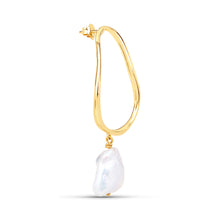 Load image into Gallery viewer, Oval Baroque Pearl Earring