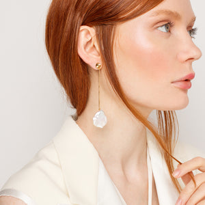 Maxi Keshi Pearl Earring with Zircon