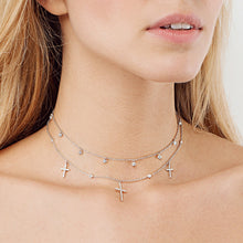 Load image into Gallery viewer, White Cubic Zirconia Drop Choker