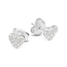 Load image into Gallery viewer, Pave Heart Studs