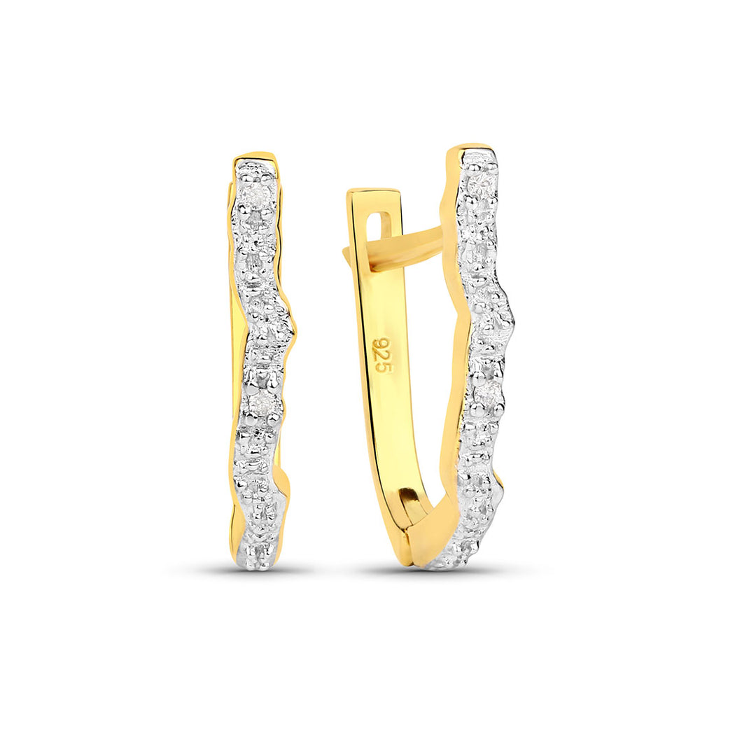 Diamond Locked Earrings