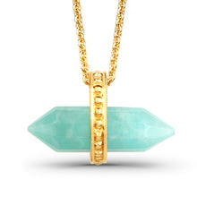 Load image into Gallery viewer, Amazonite Bullet Pendant