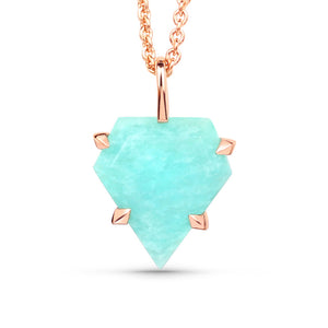 Amazonite Shield Pendant