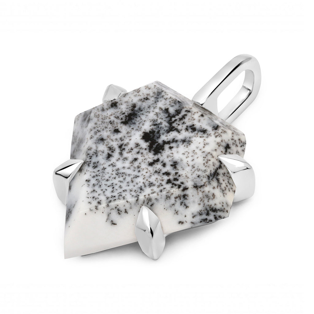 Dendritic Agate Shield Pendant