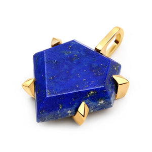 Lapis Shield Pendant