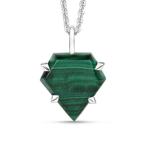 Malachite Shield Pendant