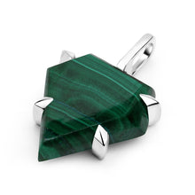 Load image into Gallery viewer, Malachite Shield Pendant