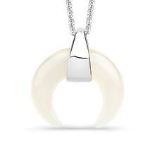 Load image into Gallery viewer, White Agate Horn Pendant