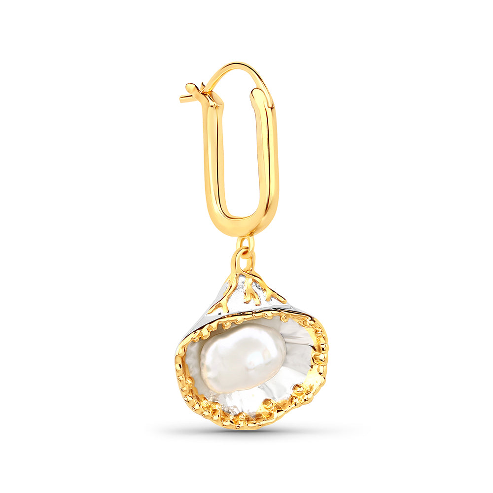 Baroque Pearl Shell Earring