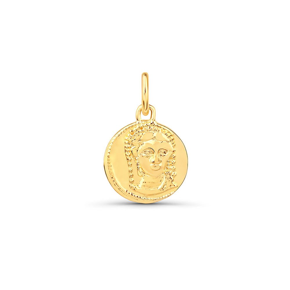 Small Coin Round Pendant