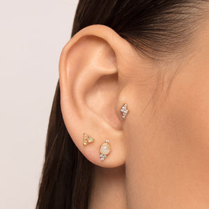Moonstone and Cubic Zirconia Cartilage