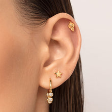 Load image into Gallery viewer, Five-Ball Trinity Cartilage Stud Earring