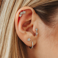Load image into Gallery viewer, Cubic Zirconia Star Threaded Stud