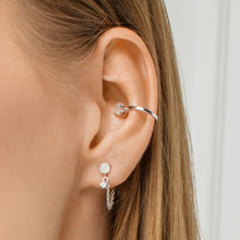 Load image into Gallery viewer, Moonstone and Cubic Zirconia Ear Cuf