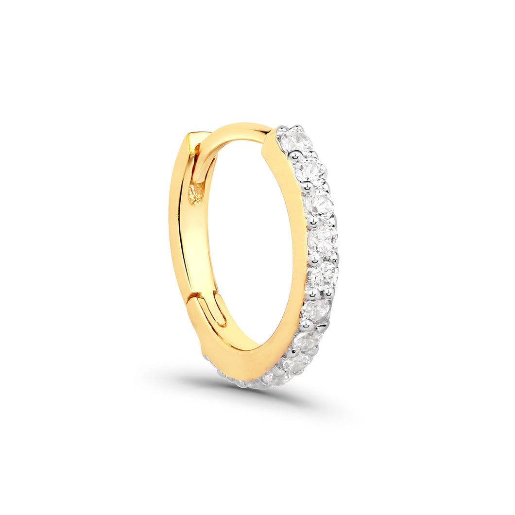 Cubic Zirconia Full Pave Clicker