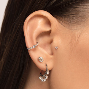 Cubic Zirconia Oval Shaped Cartilage Stud